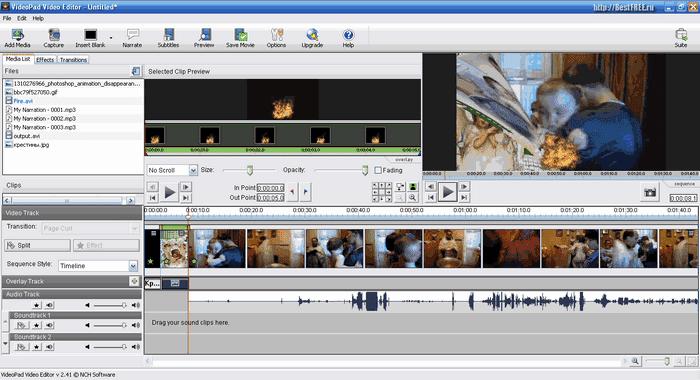 Скачать видеоредактор VideoPad Video Editor 7.34 бесплатно