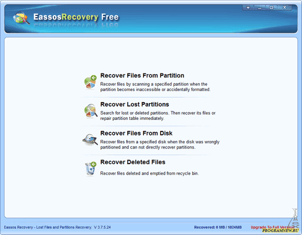 Eassos Recovery Free 4.2